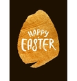 Gold Foil Calligraphy Happy Easter Greeting Card vector image