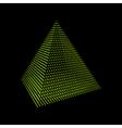 Pyramid Regular Tetrahedron Platonic Solid vector image vector image