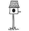 simple black and white bird house vector image