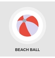 Beach ball Flat Icon vector image vector image