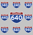 INTERSTATE SIGNS 140-940 vector image