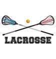 Lacrosse Word Art vector image vector image
