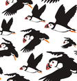 puffin bird pattern B vector image
