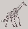 Giraffe Ornament vector image vector image