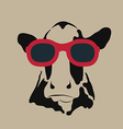 Cow glasses vector image