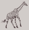 Giraffe Ornament vector image