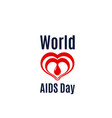 heart and blood drop icon for aids day vector image