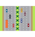 Highway traffic view from top vector image