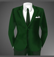 male clothing business green suit vector image