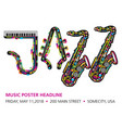 printjazzy colorful music background vector image