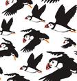 puffin bird pattern B vector image
