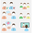 Set of human resources icons vector image