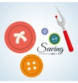 Sewing designtextile icon tailor shop concept vector image