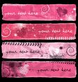 Valentine's Banners I vector image