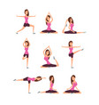young woman making yoga exercises and meditation vector image