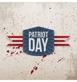 Patriot Day realistic Tag with Ribbon vector image