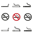 Smoke icon set vector image