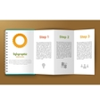 Notepad unfolded infographic vector image vector image