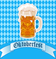 Oktoberfest beer glass vector image