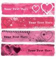 Valentine's banners ii vector