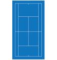 Tennis court blue vector image