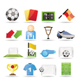 football and sport icons vector image vector image