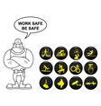 Safety and security icon set vector image