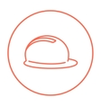 Hard hat line icon vector image