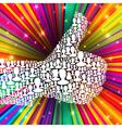 thumb up symbol many peoples vector image