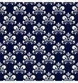 dark blue damask pattern vector image