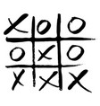 hand drawn noughts and crosses vector image