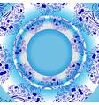 light blue template vector image