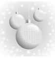 Three Knitted Christmas Balls vector image