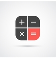 Trendy flat calculator icon vector image