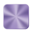 ultra violet metal button icon vector image