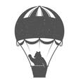 Vintage of Bear on Balloon vector image