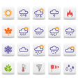 Weather and seasons icons vector image vector image