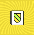 document security icon simple line cartoon vector image