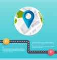 road infographic template flat design vector image