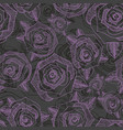 floral seamless pattern with roses hand drawing vector image