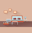 home room interior bedroom furniture with bed vector image