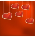 Glass hearts template EPS8 vector image vector image