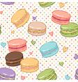 macarons pattern vector image