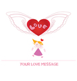 cartoon girl in love vector image