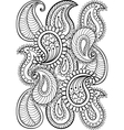 Hand drawn paisley pattern for adult coloring page vector image