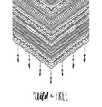 Wild free boho design in black and white vector image