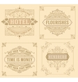 Vintage logo templates with Flourishes Elegant vector image