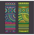 Abstract tribal ethnic background set vector image