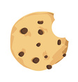 Chocolate chip cookie vector image