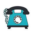 color image cartoon silhouette retro telephone vector image